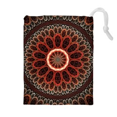 2240 Circles Patterns Backgrounds 3840x2400 Drawstring Pouches (extra Large) by amphoto