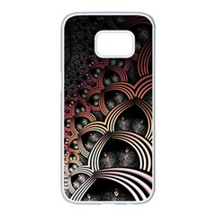 Patterns Surface Shape Samsung Galaxy S7 Edge White Seamless Case by amphoto