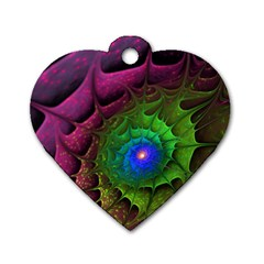 Immersion Light Color  Dog Tag Heart (one Side) by amphoto
