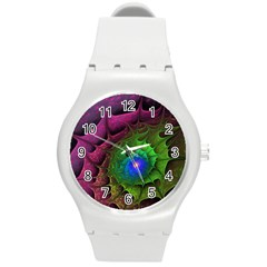 Immersion Light Color  Round Plastic Sport Watch (m) by amphoto