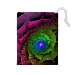 Immersion Light Color  Drawstring Pouches (large)