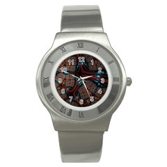 Surface Grid Lines  Stainless Steel Watch by amphoto