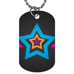 Star Background Colorful  Dog Tag (two Sides) by amphoto