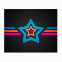 Star Background Colorful  Small Glasses Cloth (2 Side) by amphoto
