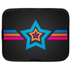 Star Background Colorful  Netbook Case (large) by amphoto