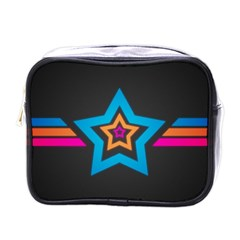 Star Background Colorful  Mini Toiletries Bags by amphoto