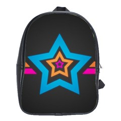 Star Background Colorful  School Bag (xl) by amphoto