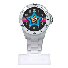 Star Background Colorful  Plastic Nurses Watch by amphoto