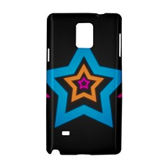 Star Background Colorful  Samsung Galaxy Note 4 Hardshell Case by amphoto