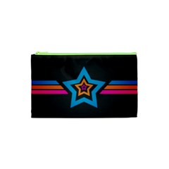 Star Background Colorful  Cosmetic Bag (xs) by amphoto