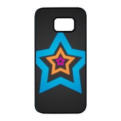 Star Background Colorful  Samsung Galaxy S7 Edge Black Seamless Case by amphoto