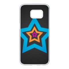 Star Background Colorful  Samsung Galaxy S7 Edge White Seamless Case by amphoto