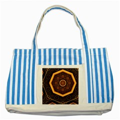 Light Surface Lines  Striped Blue Tote Bag by amphoto