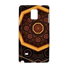 Light Surface Lines  Samsung Galaxy Note 4 Hardshell Case by amphoto