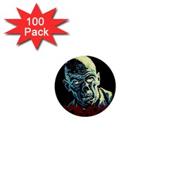 Zombie 1  Mini Buttons (100 Pack)  by Valentinaart