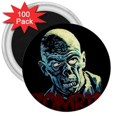 Zombie 3  Magnets (100 Pack) by Valentinaart
