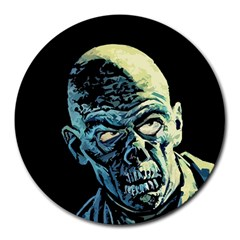 Zombie Round Mousepads by Valentinaart