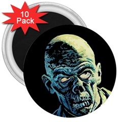 Zombie 3  Magnets (10 Pack)  by Valentinaart