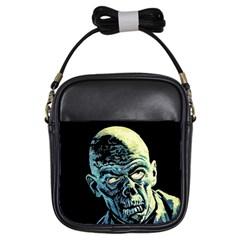 Zombie Girls Sling Bags by Valentinaart