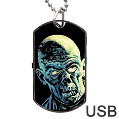 Zombie Dog Tag Usb Flash (one Side) by Valentinaart