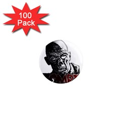Zombie 1  Mini Magnets (100 Pack)  by Valentinaart