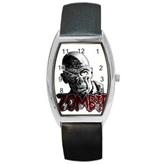 Zombie Barrel Style Metal Watch by Valentinaart