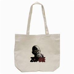 Zombie Tote Bag (cream) by Valentinaart