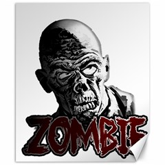 Zombie Canvas 8  X 10  by Valentinaart
