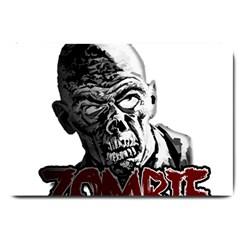 Zombie Large Doormat  by Valentinaart
