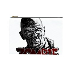 Zombie Cosmetic Bag (large)  by Valentinaart