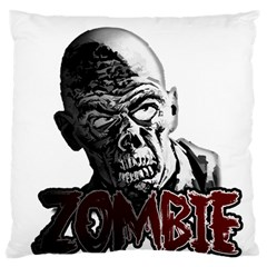 Zombie Large Cushion Case (two Sides) by Valentinaart