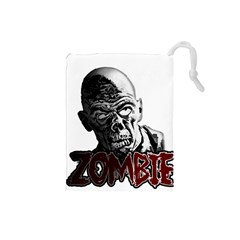 Zombie Drawstring Pouches (small)  by Valentinaart
