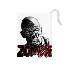Zombie Drawstring Pouches (medium)  by Valentinaart