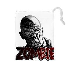Zombie Drawstring Pouches (large)  by Valentinaart