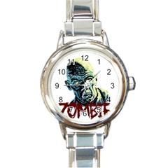 Zombie Round Italian Charm Watch by Valentinaart