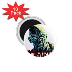 Zombie 1 75  Magnets (10 Pack)  by Valentinaart