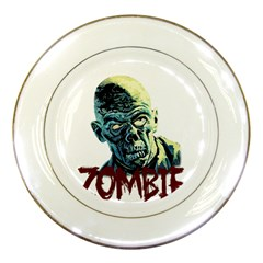 Zombie Porcelain Plates by Valentinaart