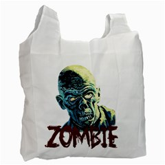 Zombie Recycle Bag (one Side) by Valentinaart