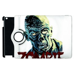 Zombie Apple Ipad 2 Flip 360 Case by Valentinaart