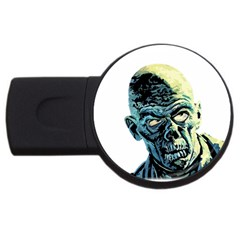 Zombie Usb Flash Drive Round (2 Gb) by Valentinaart