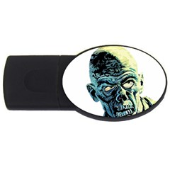 Zombie Usb Flash Drive Oval (2 Gb) by Valentinaart