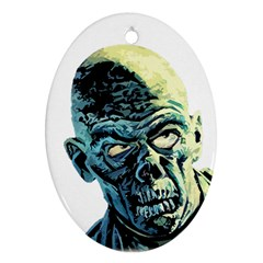Zombie Oval Ornament (two Sides) by Valentinaart