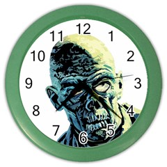 Zombie Color Wall Clocks by Valentinaart