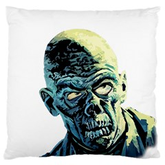 Zombie Large Flano Cushion Case (one Side) by Valentinaart