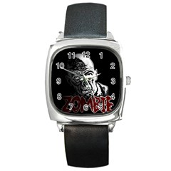 Zombie Square Metal Watch by Valentinaart