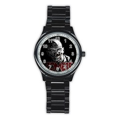 Zombie Stainless Steel Round Watch by Valentinaart