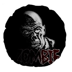 Zombie Large 18  Premium Flano Round Cushions by Valentinaart