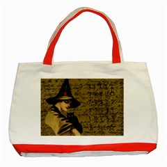 Witchcraft Vintage Classic Tote Bag (red) by Valentinaart