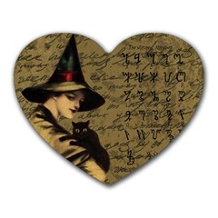 Witchcraft Vintage Heart Mousepads by Valentinaart