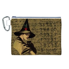 Witchcraft Vintage Canvas Cosmetic Bag (l) by Valentinaart